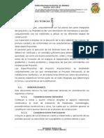 MODELO DE ESPECIFICACIONES TECNICAS