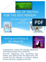 The Ruling of Fasting for the Sick Person