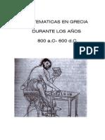 Las Matematicas en Grecia