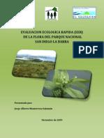 Evaluacion Ecológica Rapida Flora Parque Nacional San Diego Barra