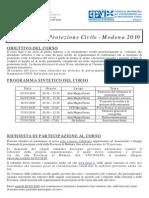 Programma Corso Base Modena 2010