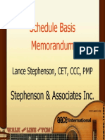 Files Schedule Basis Memorandum