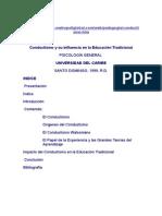 Conductismo y Su Influencia en La Educación Tradicional