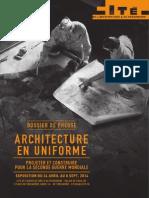 Architecture en Uniforme, Projeter Et Construire Pour La Seconde Guerre Mondiale (Dossier_presse_expo_Cohen_Chaillot_2