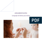 Argumentacion Lenguaje de Señas Bebes