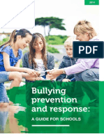 Bullying Prevention Response a Guide for Schools