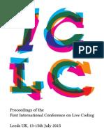 Iclc2015 Proceedings