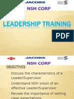 Supervisor Training Leadership