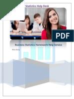Business Statistics Homework Help Service