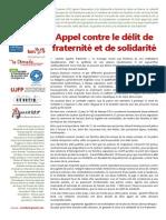 Appel Contre Le Delit de Fraternite Et de Solidarite 030715