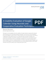 A Usability Evaluation of Google Calendar Using Heuristic and Cooperative Evaluation Techniques