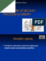 Socijalni Utjecaji i Procesi u Grupi