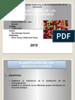 Clasificacion de Los Microorganismos