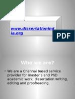 PhD Thesis Writing Services Chennai