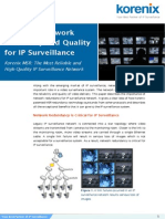 Ensuring Network Reliabilty and Quality for IP Surveillance