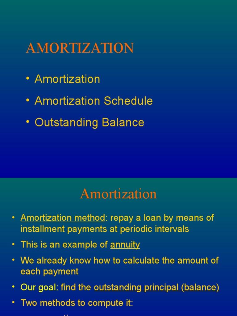 amortization  u0026 sinking fund