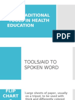 Non-traditional Tools in Health Education