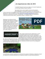 minecraft pour 3ds elu important jeu video de 2015