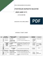Planificare semestrul 1 - Gradininta