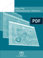 Guidelines for Parliamentary Websites