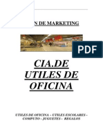 Plan de Marketing CIA. de Utiles de Oficina. Modelo Completo