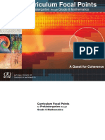 NCTM Focal Points of Math Curriculum