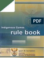 Indigenous Games Rule Book