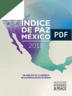 Indice de Paz Mexico 2015