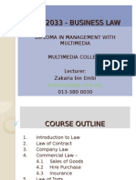 Business Law Lec. 1a (Intro) (22.03.2011)