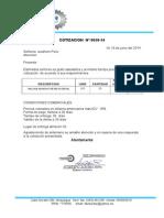 COTIZACION  058-2014.
