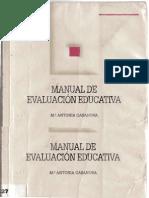 manual de evaluacion educativa - ma  antonia casanova