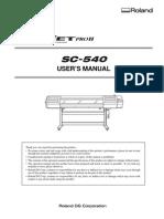 SC-540 USER'S MANUAL
