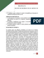 DETERMINACION DE PROTEINAS POR EL METODO DE KJENDAHL.