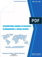 International Journal of Research in Management & Social Science Volume1, Issue 2, October - December 2013