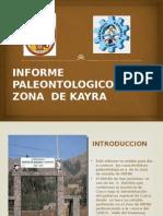 Informe Paleontologico de La Zona de Kayra-exposicion