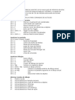 Accesos Directos de AutoCAD