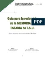 Guía Para La Redaccion de La Memoria de TSU
