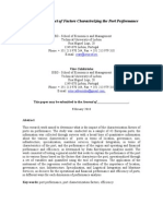 Impact of Factor Caracterizing Port on Performance Feb2010 (in Revision)