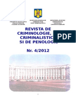 Revista de Criminalistica, Criminologie si Penologie, nr. 4/2012