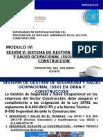 Presentación Módulo IV Sesión v SGSSO en Obra y Construcción
