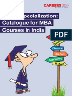 Which Specialization- Catalogue for MBA Courses in India