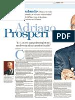 Intervista ad Adriano Prosperi - Repubblica 2015-06-28