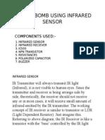Ticking Bomb Using Infrared Sensor