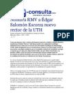 01-07-2015 E-consulta.com - Nombra RMV a Édgar Salomón Escorza Nuevo Rector de La UTH