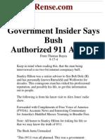 Rense.com Government Insider Says Bush Authorized 911