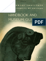 The Oriental Institute Handbook and Museum Guide