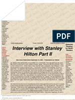 The Truth Seeker - Interview With Stanley Hilton Part II