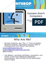 Humans aren't Computers
