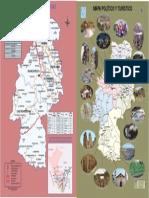 Plano de Rutas y Distancias de Huancavelica