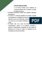 Características de Paisaje Rural